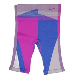 Nike Pink & Blue Sculpt Tight Fit Training Shorts